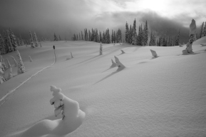 Ski touring in the Monashees