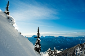 Slashing pow high above Revelstoke